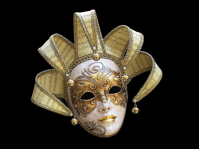 Lady Mask with Golden Crown