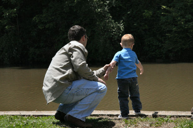family-short-story-father-son-lake