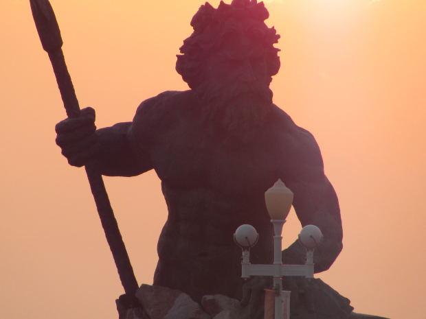 warrior-axe-sunset