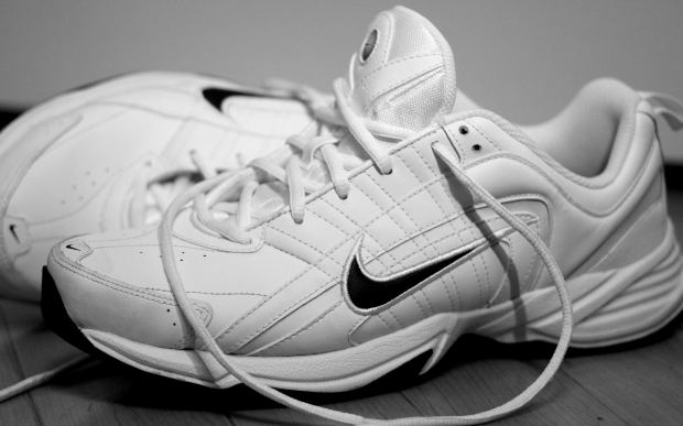 white-sports-shoes